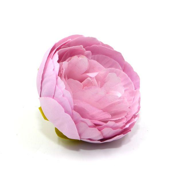 Пион голова 9см ткань лиловый (1шт)